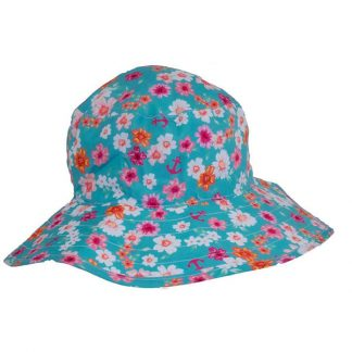 Reversible Sunhat - Floral Mint/Turquoise