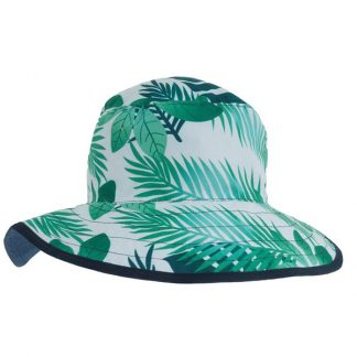 Reversible Sunhat - Tropical Forest/Navy