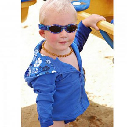 Baby Banz Adventure Banz Camo Blue sunglasses in the sun