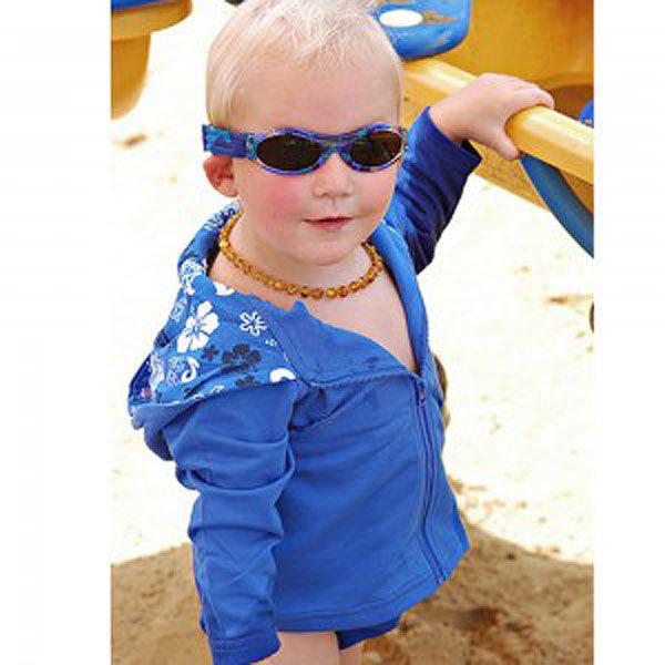 Baby Banz Adventure Banz Camo Blue sunglasses in the sun