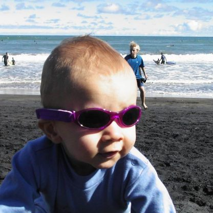 Adventure Banz Purple sunglasses at Piha