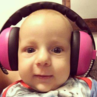 Baby in Mini Muffs in Magenta