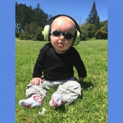Baby in Spring Green Mini Muffs