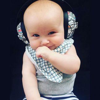 baby in Mini Earmuffs Squiggle
