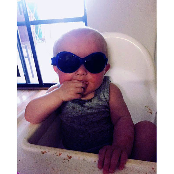 Baby in Retro Banz Pacific Blue