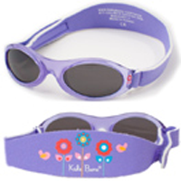 adventure lavender sunglasses showing band