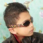 Boy in Adventure Banz Zoo sunglasses