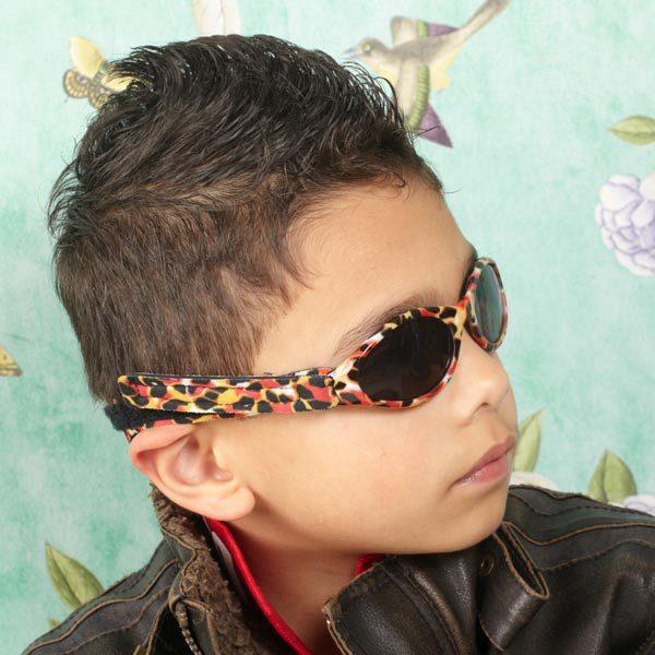 Boy in Adventure Banz Zoo sunglasses