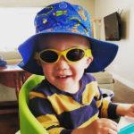 Boy in Adventure Banz Gold sunglasses
