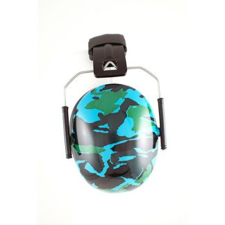 Hear No Blare Earmuffs Camo Blue