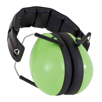 Protective Earmuffs in Lime
