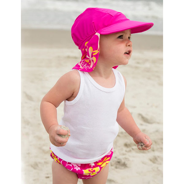 Girl in Flap Hat in Sun Blossom