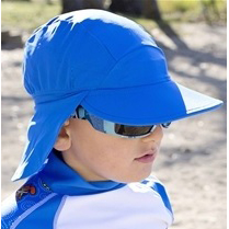 Boy in Flap Hat in True Blue