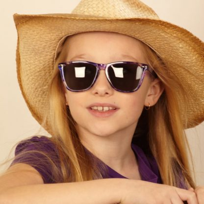 Cowgirl in JBanz Flyerz Tortoiseshell Purple sunglasses