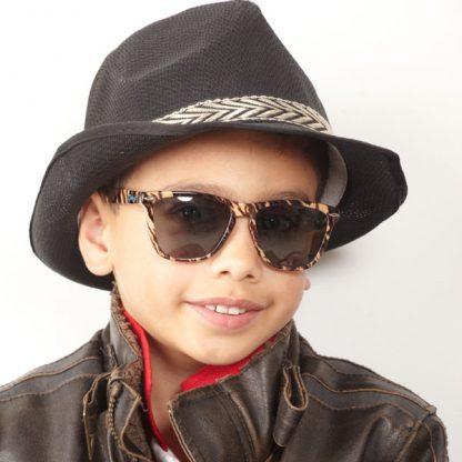 Boy in JBanz Flyerz Tree Bark sunglasses