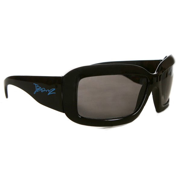 JBanz Wraparound Square Black sunglasses