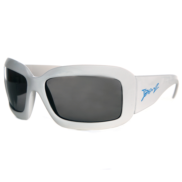 JBanz Wraparound Square White sunglasses