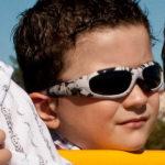 Boy in JBanz Patternz Camo Grey sunglasses