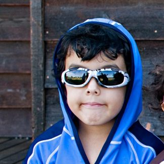 Boy in JBanz Pattern Camo Grey sunglasses