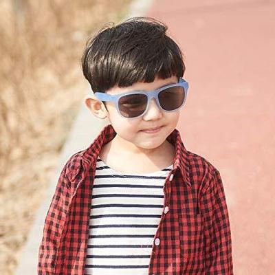 Boy wearing JBanz Chamelon White->Blue sunglasses