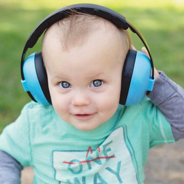 Little boy wearing Blue Mini Muffs