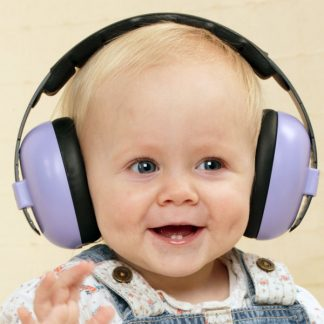 Baby in Mini Earmuffs earmuffs in Lilac