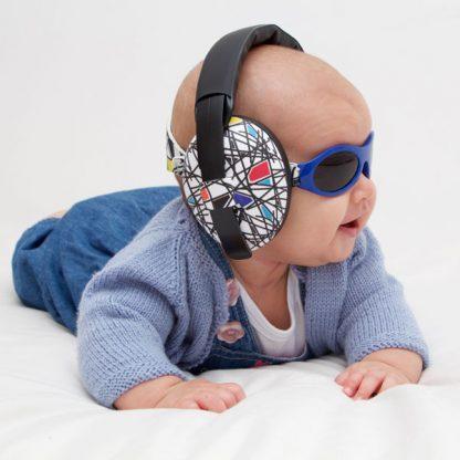 Baby in Mini Muffs earmuffs in Squiggle