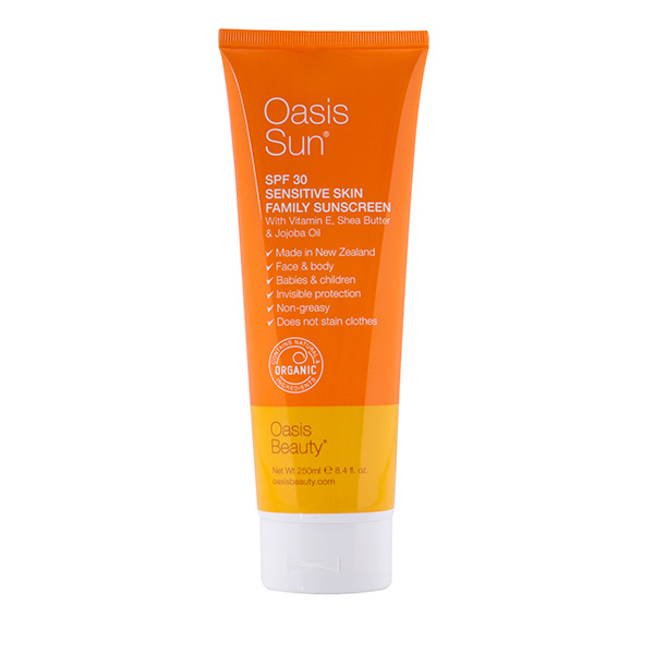 Oasis Sun natural SPF 30+ sunscreen, 250ml