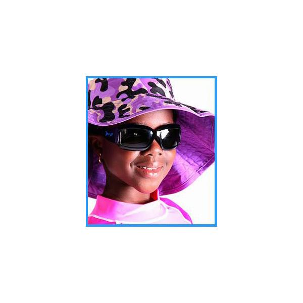 Girl wearin Reversible Sunhat - Camo Purple