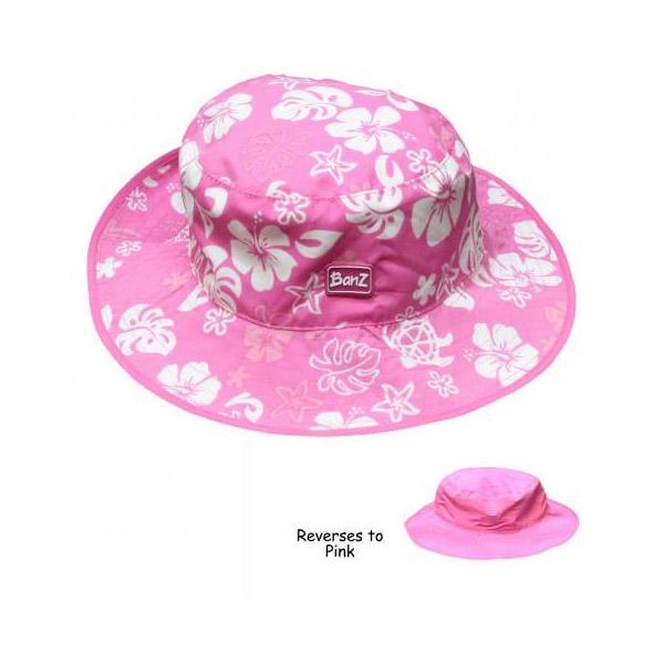 Reversible Sunhat - Pink Turtle
