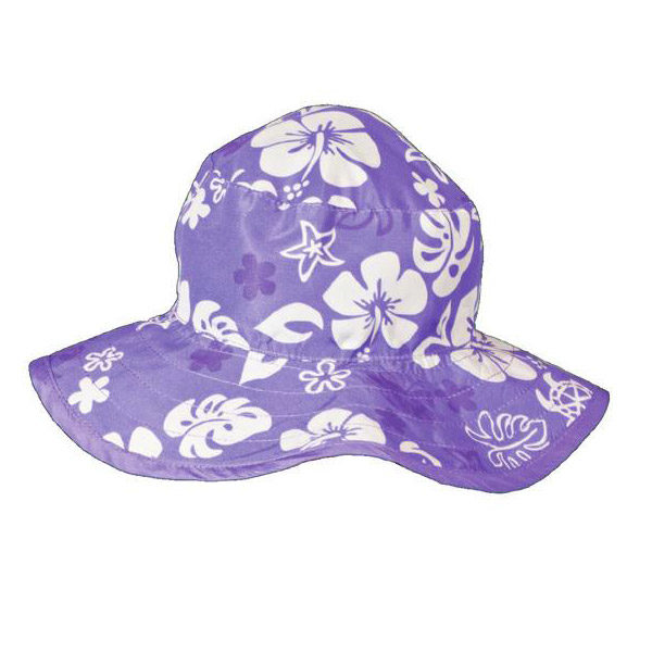 Reversible Sunhat - Purple Turtle