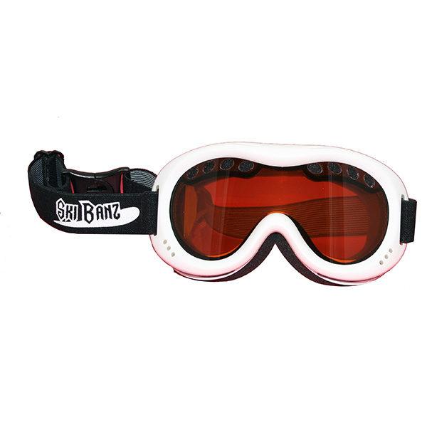 SkiBanz Arctic White snow goggles