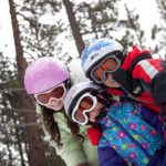 Children in SkiBanz snow goggles