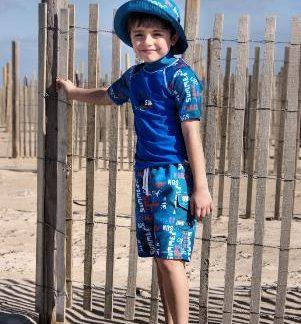 Boy in a Blue Graffiti outfit