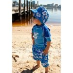 Boy in a Coastline Blue outfit