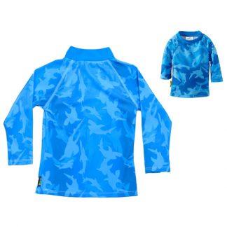 Long-sleeved Fin Frenzy Pattern rash shirt
