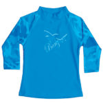 Long-sleeved rash shirt in Fin Frenzy Blue