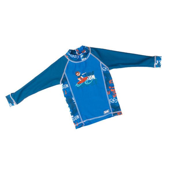 Long-sleeved Blue Graffiti rash shirt
