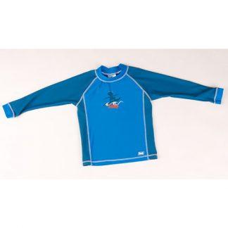Long-sleeved Blue Surfer rash shirt
