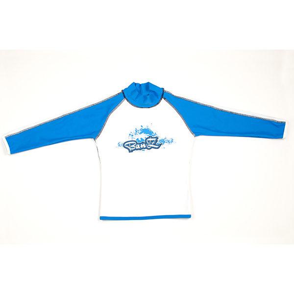 Long-sleeved Blue/White rash shirt