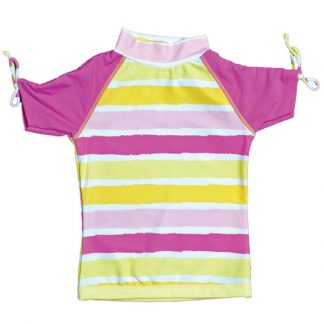 Short-sleeved Sun Blossom Stripe rash shirt