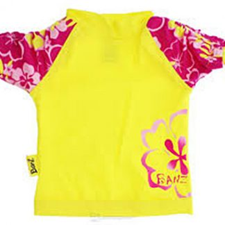 Short-sleeved Sun Blossom Yellow rash shirt