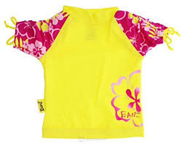 Short-sleeved Sun Blossom Yellow rash shirt