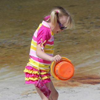 Sun Blossom swim skirt and top