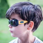 Boy wearing JBanz Flexerz Black/Yellow sunglasses