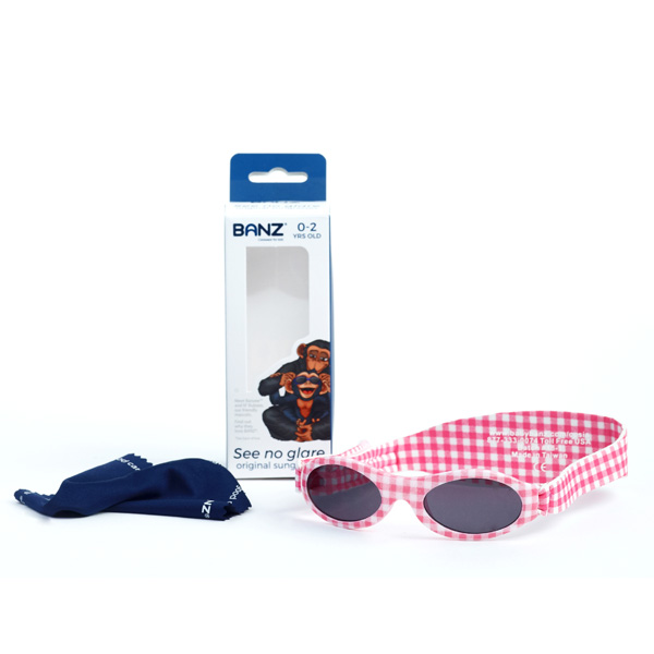 Adventure Banz sunglasses - eco-pack 'Pink Check'
