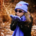 Girl in Adventure Banz Lavender Flowers sunglasses