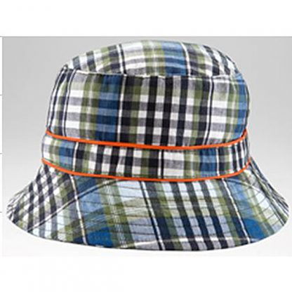 Bucket Sunhat Navy/Olive Check