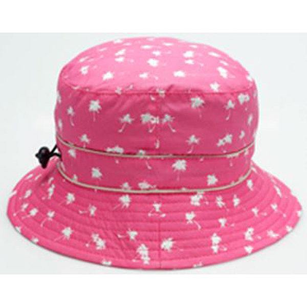 Bucket Sunhat Palm Tree Magenta