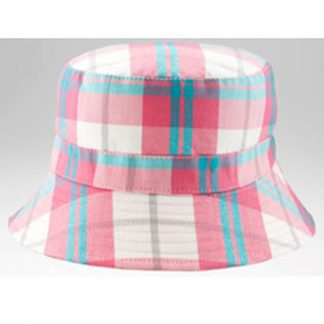 Bucket Sunhat Pink/White Check